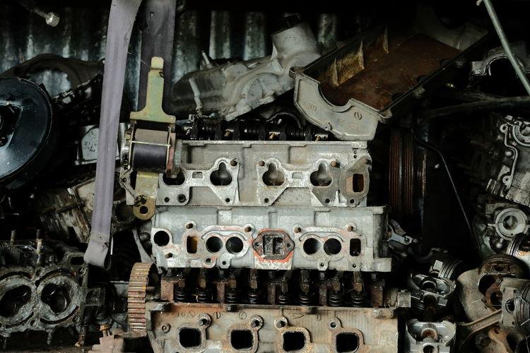 Full frame shot of old machine