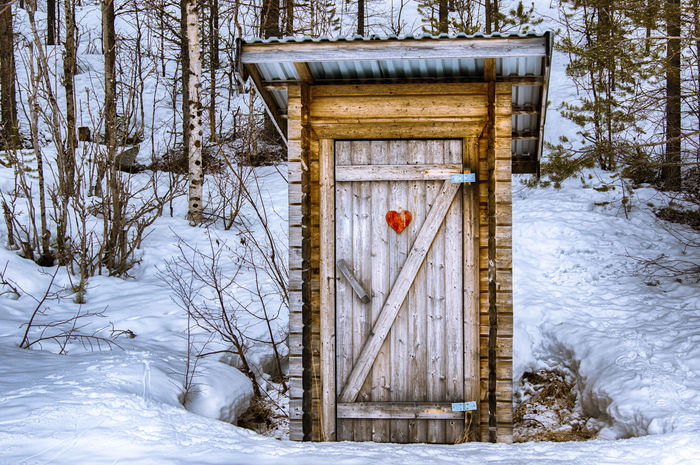 People's business Cold Temperature Day Frozen Landscape Nature No People Outdoors Outhouse Pit Latrine Season  Snow White Color Winter Wood - Material First Eyeem Photo restroom Restroom Sweden