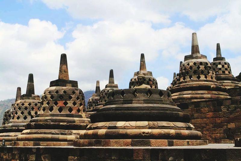 Historic temple against sky