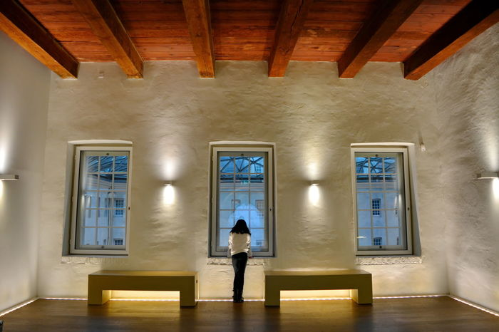 Alone Amsterdam Curiosity Curious Mind Full Length Holding Holland Indoors  Kid Little Girl Museum Nederland One Person One Young Woman Only Pattern People Rectangle Scheepvaartmuseum Shapes Shapes And Forms Standing White Window Wooden