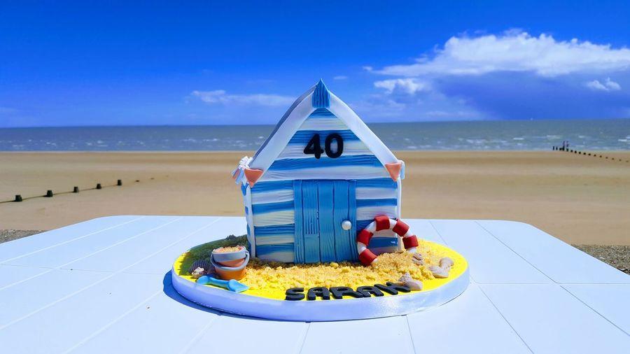 Beach Hut Cake ! Beach Horizon Over Water No People Frinton Frinton On Sea Essex Beach Hut Beach Hut Collection