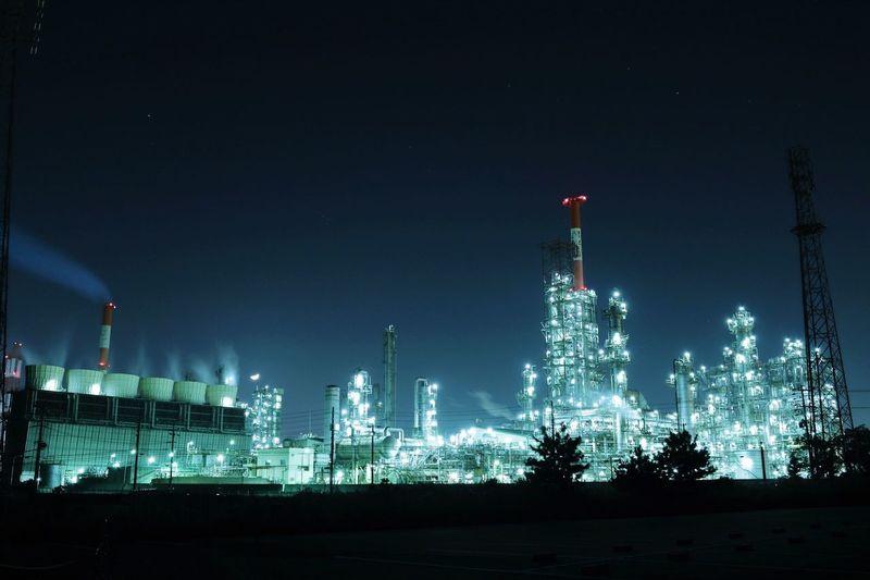 不夜城 工場 夜景