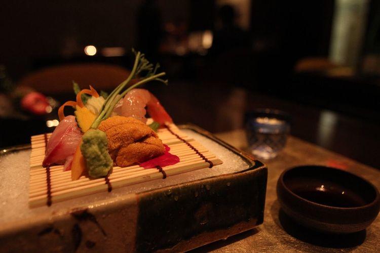 Japanese Food Uni Sushi Sashimi  Rosanjin Tribeca NYC Manhattan Michelin Starred Restaurant Kaiseki Ryori Hamachi