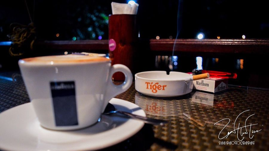 A one fine evening! Coffee Italian Evening Cigarette  Marlboro Smoke Live Life Love ZHH Photography ZHH Nikon