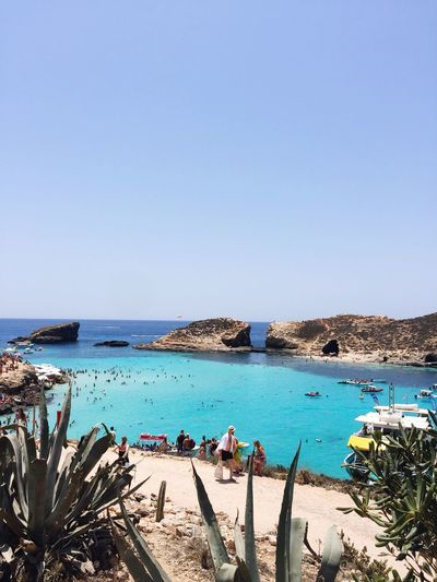 Bluelagoon Beach Crystal Clear Summervacation Clear Water Malta Sea Brautiful Clearwaterbeach Blue