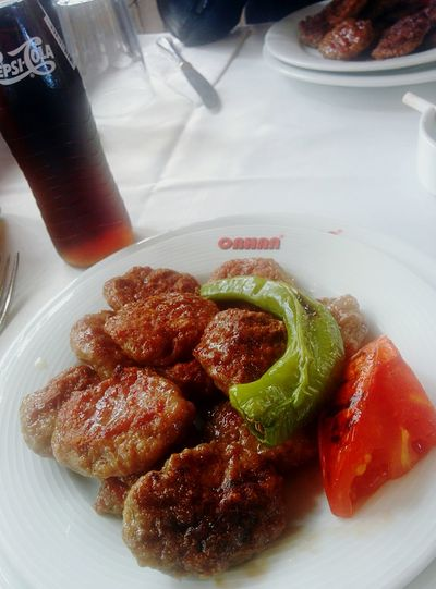 Plate Food And Drink Food Freshness Ready-to-eat Healthy Eating Meatballs MEATBALL♥ Köfte KöfteciOrhan