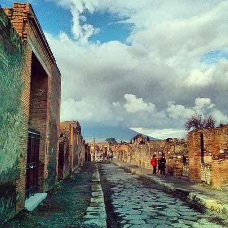 This was in Pompeii  Ruins Pompeiscavi Vesuvius  Vesuvio Clouds