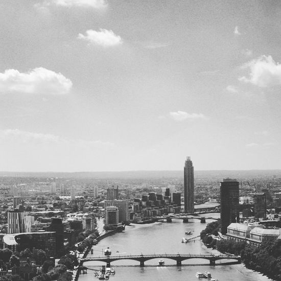 The Thames, the City of London. Great View from the London Eye. Cityscapes View From Above River Urban Urban Landscape Blackandwhite Black And White Black & White Blackandwhite Photography Black&white England Travel Travel Photography Photography Photooftheday Ladyphotographerofthemonth Pmg_lon