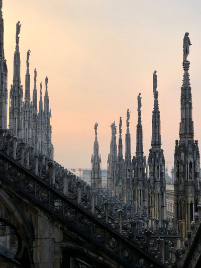 Sunset from the top of chatedral of milan