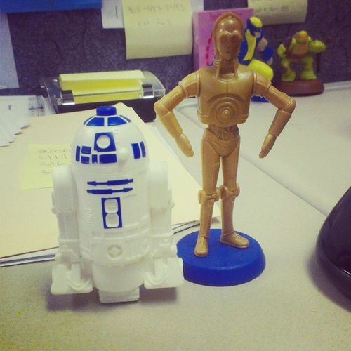 These are the droids I seek. really though, they help me cope with being cooped up in #cubicalhell. <3 #starwars Work Starwars Droids R2D2 C3po MayTheForceBeWithyou Cubicalhell Theforce Theforceisstrongwiththisone Cubiclehell Cubical Cubicle