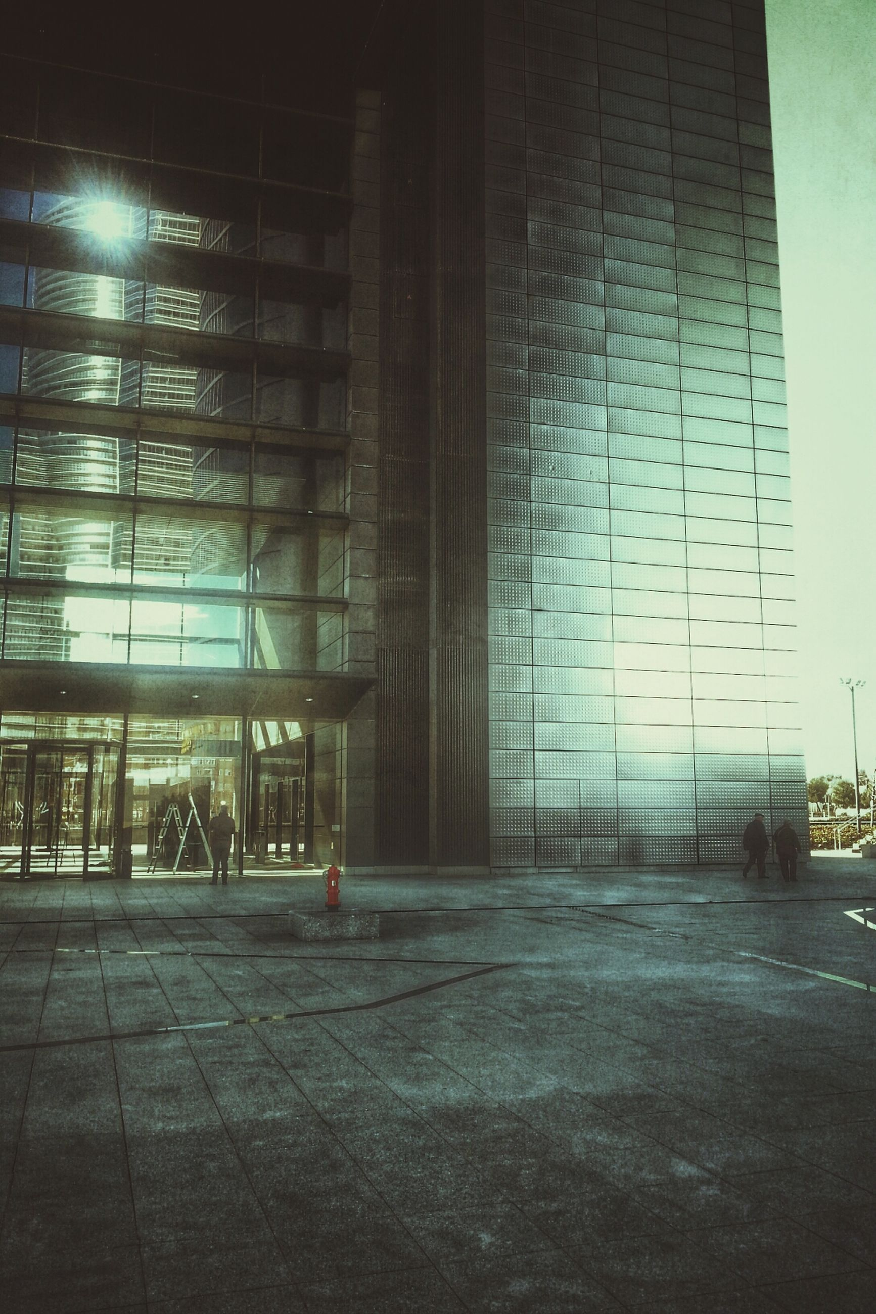 architecture, built structure, building exterior, building, city, window, glass - material, illuminated, street, modern, indoors, sunlight, night, no people, wall - building feature, reflection, empty, office building