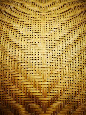 Thai Art Pattern Textured  Close-up Weaving Handicraft Work