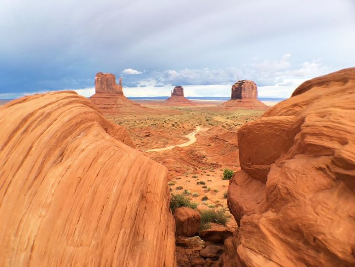 Mittens and merrick butte in monument valley
