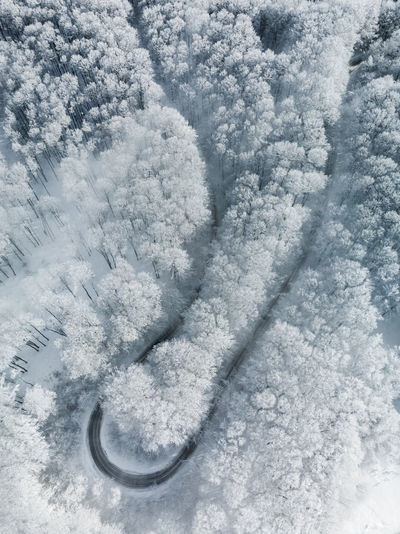 Snow Winter Cold Temperature No People Nature White Color Day High Angle View Beauty In Nature Outdoors Covering Frozen Full Frame Close-up Land Transportation Environment Scenics - Nature Mode Of Transportation Powder Snow Aerial View Aerial Photography Winter Landscape Nature