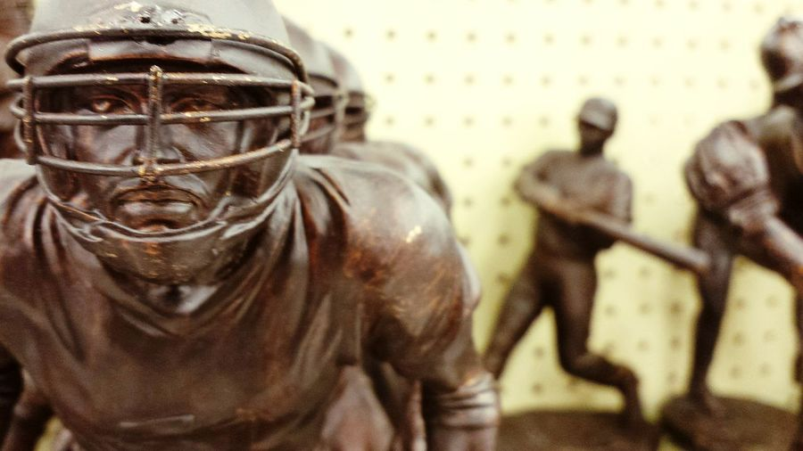 Helmet Sports Statues Bronze