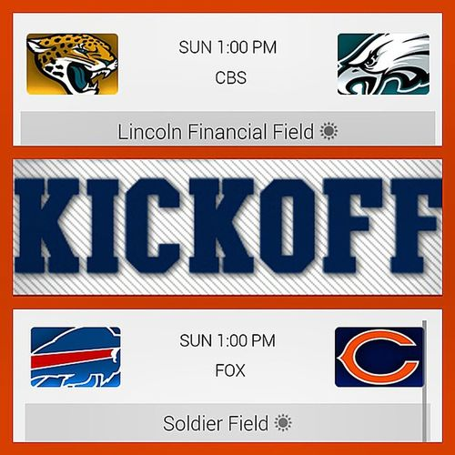 WEEK 1: NFLFootball TODAY!!! LetsGoEagles LetsGoBears Eagles Bears Philly ChiTown Winners Champions