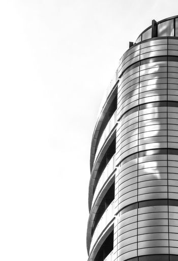 SideView Urban Perspectives Black & White Black And White Sunlight Built Structure Architecture Building Exterior Sky Low Angle View No People Nature Clear Sky Copy Space Building Day Outdoors City Modern Office Building Exterior Tower The Architect - 2018 EyeEm Awards