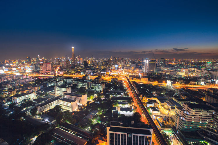 bangkok night view Bangkok Night Light Senset Cityscape City Life Capital Cities  Top View Perspective Nice Building Exterior City Architecture Built Structure Building Sky Illuminated Office Building Exterior Modern Urban Skyline High Angle View Skyscraper Nature Outdoors Financial District
