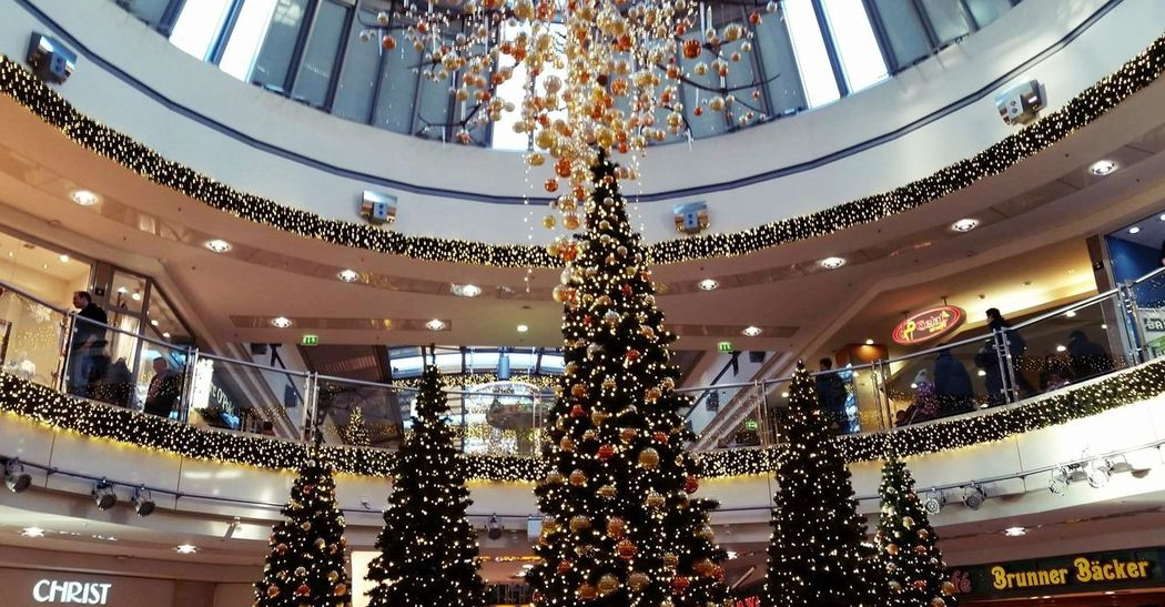 Christmas Balls December Lights Shopping Center Architecture Built Structure Celebration Christmas Christmas Decoration Close-up Day Decoration Glow Illuminated Indoors  Lametta Low Angle View No People