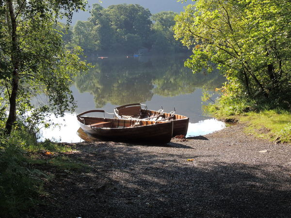England Countryside Lake District Lake District National Park Lake District Series Lake District Photography Beauty In Nature Day England England🇬🇧 Grass Growth Mode Of Transport Moored Nature Nautical Vessel No People Outdoors Plant Scenics Sky Sunlight Tranquility Transportation Tree Water