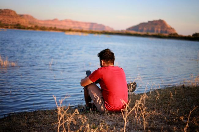 Long Goodbye sitting in memories of the person who left. Missing Miss You Missyou Lake Daulatabadfort Rear View Water One Person Goodbye Lakeshore Nature Outdoors Beauty In Nature Sitting Adults Only Beauty Scenics EyeEmNewHere