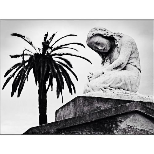 """Coming soon. Limited edition prints of my Cemetery / Graveyard images. This is one of 10 prints that will be available in a 10 print portfolio. Titled, """"Mourning Figure"""". Photographed at the St. Louis Cemetery No. 1. Photography Stlouiscemetery canon40d blackandwhitephotography monotone shotwithfilm"""