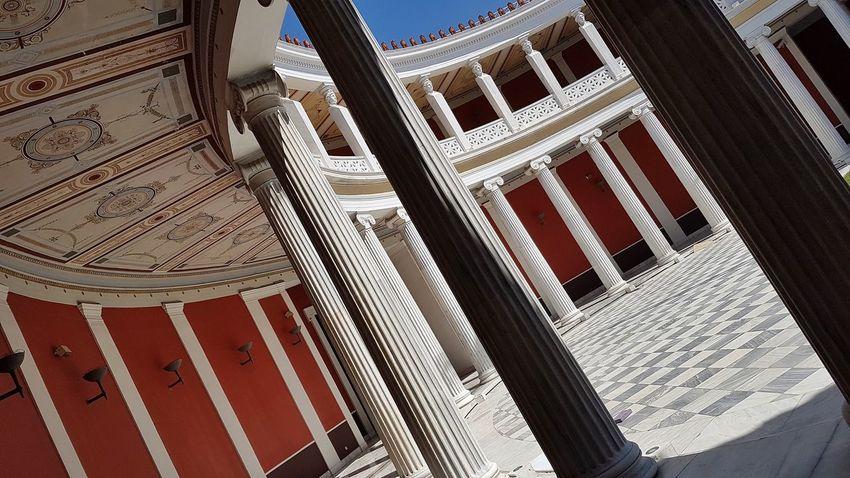 Neoclassical Architecture Neoclassical Building Interior International Landmark Architecture Columns Pattern Full Frame Close-up Architecture Built Structure
