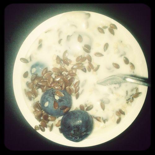 Najlepszy deser Borówki Jogurtnaturalny Sezam Siemie Lniane <3