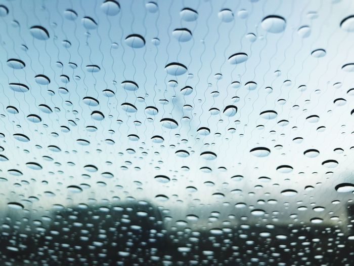 Drop Window Rain Wet Full Frame RainDrop Backgrounds Weather Water No People Close-up Indoors  Day Nature Sky Ndsm Car Window