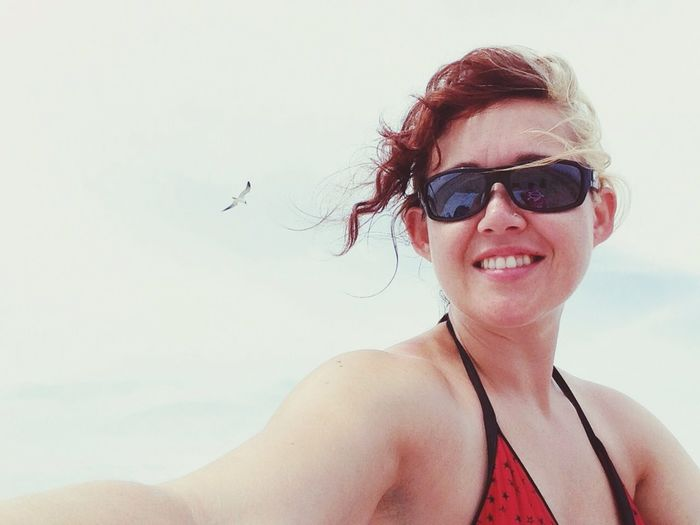 One Person Portrait Smiling Woman Happy Real People Summer Outside Summertime Happiness Beach Port Aransas Texas