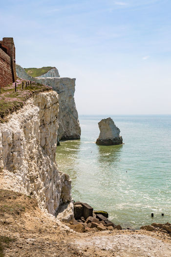 Cliffs at Seaford Beauty In Nature Chalk Chalk Cliffs Cliff Day Horizon Over Water Nature No People Outdoors Rock - Object Scenics Sea Sky Sussex Sussex Coast Tranquil Scene Tranquility Vertical Water White Cliffs