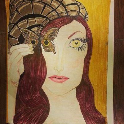 Art Artsy Prismacolor ColoredPencils girl cyborg robot woman butterfly latenight drawing latergram comissionsanyone beauty fantasy world outofhere workedhard handshurt passion progress learning everyday better proud of myself artofdrawing @artofdrawingg