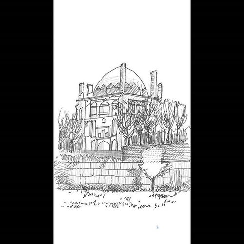 Architecture Soltanieh Soltanieh_dome Sketching Landscape Sketch Arqsketch Archilovers سلطانیه گنبد_سلطانیه اسکیس معماری Gallexynote4