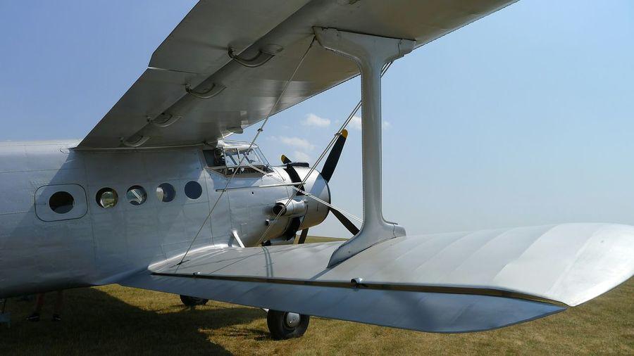 Biplane In Field