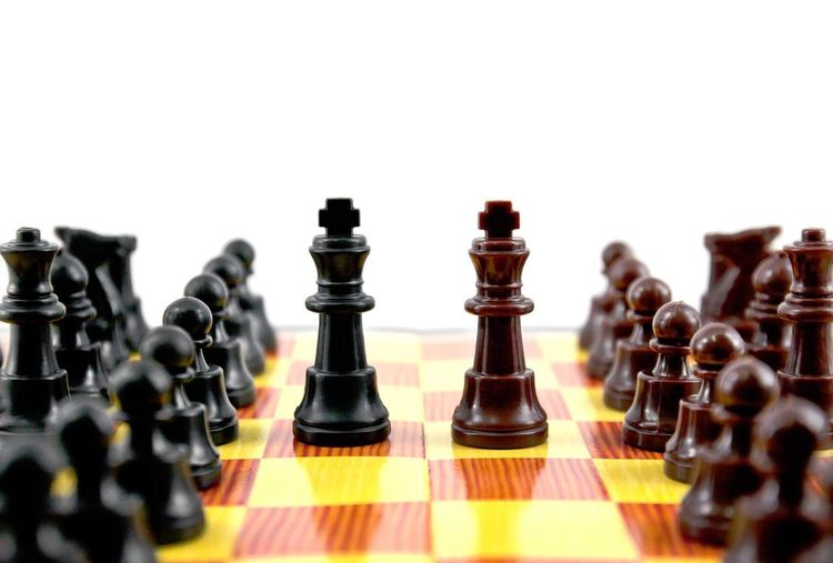Chess Chess Strategy Chess Piece Leisure Games King - Chess Piece Chess Board Pawn - Chess Piece Queen - Chess Piece Board Game Competition Knight - Chess Piece Challenge War Conflict No People White Background
