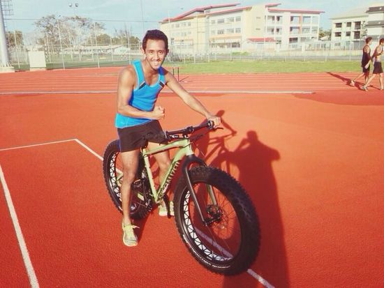After training.. Lets ride this bike