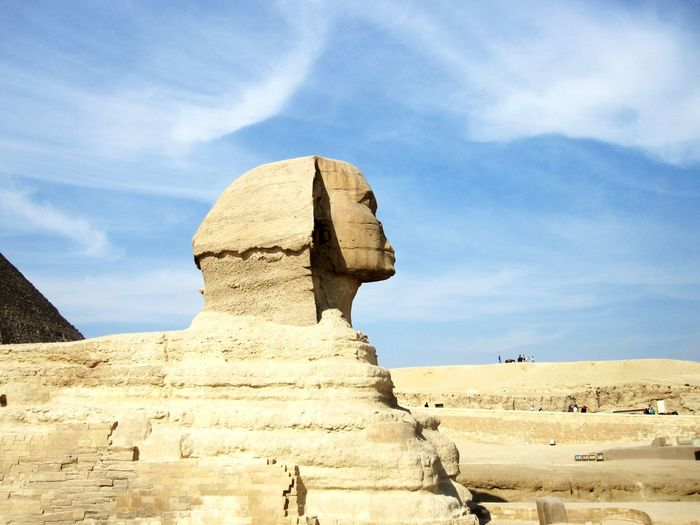 The sphinx against blue sky