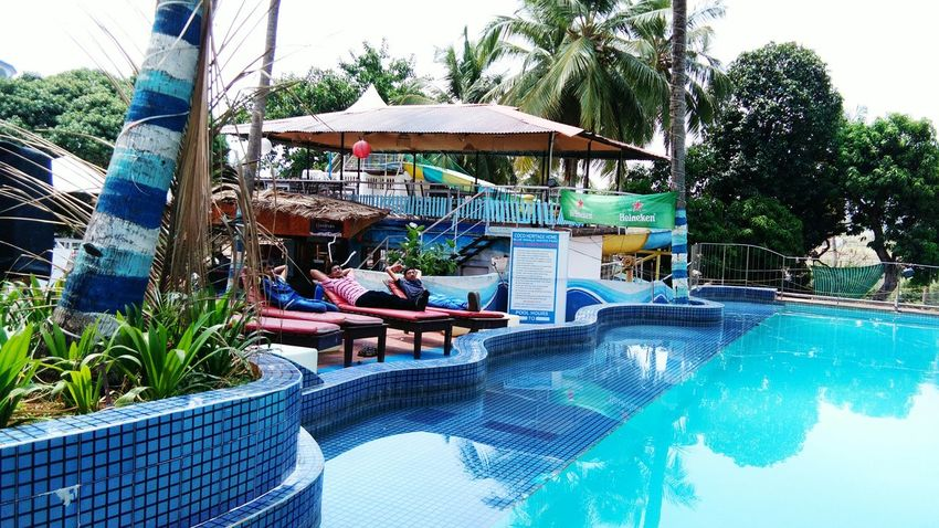Swimming Pool Water Day Vacations Enjoyment Relaxation Water Park Tourist Resort Goa India