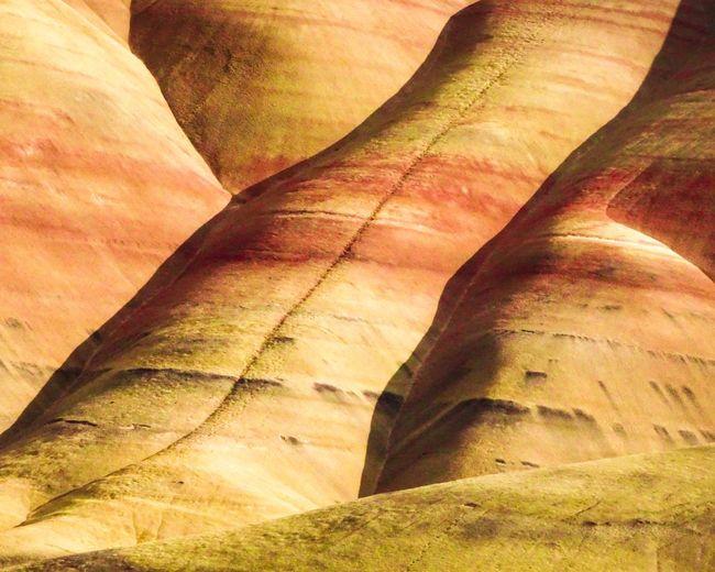 Close-up of sand dunes in desert
