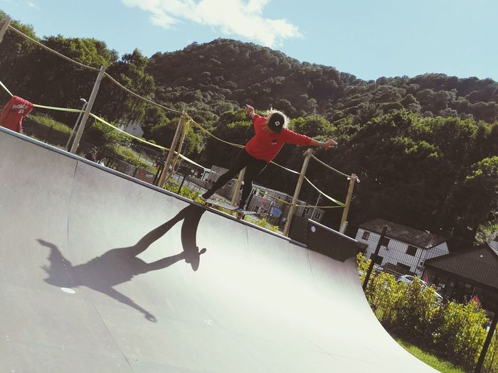 Skate shadow 2 NotYourCliche Surfsnowdonia People Sport Outdoors Leisure Activity Skateboard Park Skateboard Halfpipe Skateboarding Athlete One Person Sky Adults Only Skill  Challenge Low Angle View Skater Female Girl Skatergirl Vitality Shadow Silhouette The Week On EyeEm Done That.