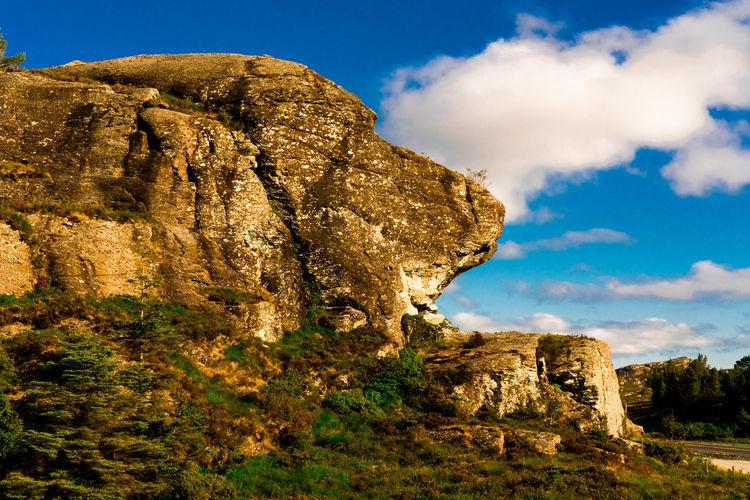Lions roar (Løvegapet) on Bømlo Lion Beauty In Nature Cloud - Sky Nature No People Outdoors Rock - Object Rock Formation Scenics - Nature Sky