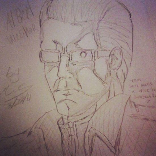 my second drawing of Albert wesker AlbertWesker Residentevil Biohazard CAPCOM Videogames Villians ArtWork Sketch