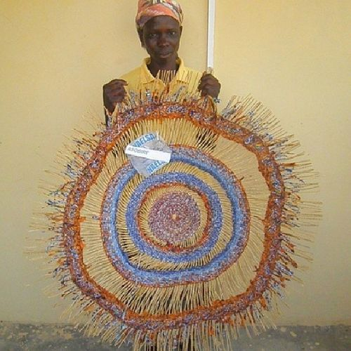 This is Asobire, a widowed mother who makes baskets and participated in our Textileart project. This is one of the first pieces sold during the exhibition to a designer who lives in Sydney. We'll slowly introduce more about the work in coming weeks and the people behind it. Thank you to r everyone who liked our work over the weekend for IWD2014 and instagram's Whpwomenwhoinspire . Such an extraordinary weekend of women online across the social media spectrum. Instagram is by far the center of creativity. Thanks beautiful women ans men ♥♡♥☆★☆