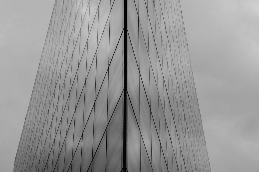 Close-up Day No People Pattern Outdoors Sky City Architecturephotography Modern Lyon - EyeEmNewHere Building Exterior Office Built Structure Window Business Cityscape Street Architecture Facades Glass Glass - Material Glass_collection Streetphotography Streetphoto_bw