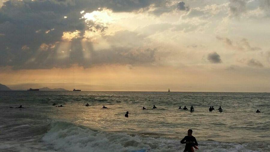 Puesta De Sol Sopelana Surf Playa