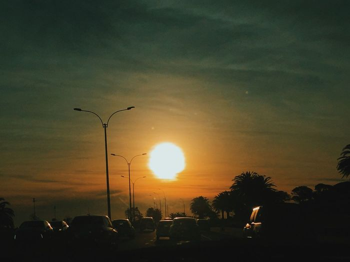 Nature Sunset Sky Silhouette Street Light Outdoors Beauty In Nature Day No People