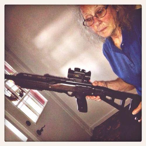 Girls With Guns Crazy Girl Gun I Love Guns MOMMA & HER GUN............