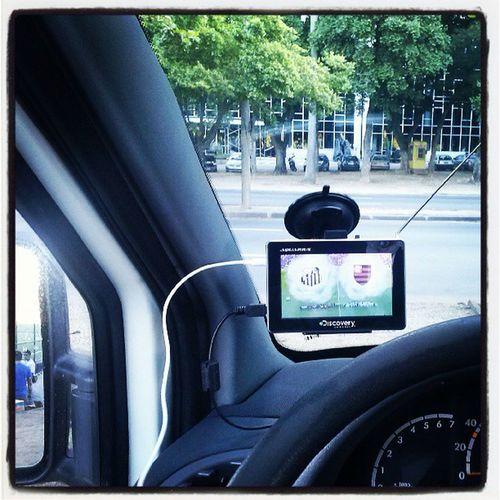 É o que me resta pra assistir a estreia do Mengão, vou de GPS!