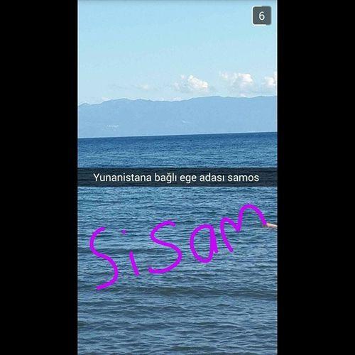 Bana böyle snaplerle gelin ✌ @edaeskiyurt Greece Samos Karlovasi Turkey izmir seferihisar ürkmez snapchat sea island