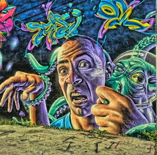 Graffiti Streetphotography Hdr_Collection Street Art bikeride pic
